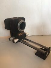 """NIKON PB 5 Bellows Focusing Attachment + """" PS 5 Slide Copying"""" From Japan"""
