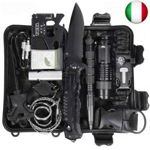 Kit di sopravvivenza all'aperto 15 in 1 Set strumento di pronto soccorso di