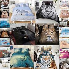 3D Animal Print Duvet Cover Set Bedding Super King Size Double Single New Quilt