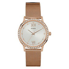 NEW GUESS WATCH for Women * Rose Gold Tone Mesh Stainless Steel Bracelet U0766L3