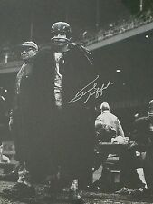 Autographed Frank Gifford 16x20 poncho/rain picture with Lombardi - Steiner
