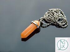 ROSSO CON Crystal Point CIONDOLO Naturale Gemstone COLLANA healing stone