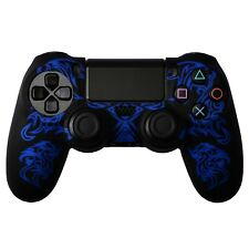 COVER IN SILICONE BLU NERO DRAGON PER CONTROLLER PS4 DUAL SHOCK 4