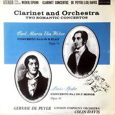DE PEYER / Weber-Spohr Clarinet Concertos / UK Decca L´Oiseau-Lyre SOL 60035 ED1