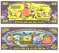 Spongebob Million Dollar Bill **Novelty Money** FREE Sleeve