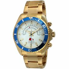Peugeot Men's 14K Gold Plated Quartz Stainless Steel Large Face Watch 1048G
