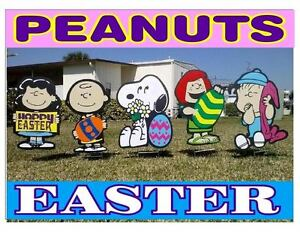 Peanuts Gang Easter Holiday Combo Yard Lawn Art Decorations