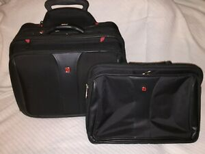 Wenger Luggage Patriot Rolling 2 Piece Business Set, Black Swiss Rolling Luggage