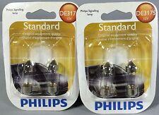 2 Packs Philips DE3175 FESTOON 12V LIGHT BULBS, Four (4) Lamps