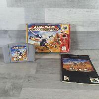 Star Wars Rogue Squadron N64 Nintendo 64 PAL Boxed Manual