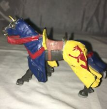 "Plastoy 3"" Horse Medieval Warrior Red Yellow"