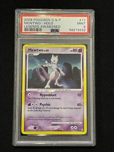 2008 Pokemon D&P Legends Awakened - Mewtwo 11/146 Holo Rare PSA 9 Mint