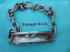 AUTHENTIC TIFFANY & CO 1837 GALAXY TITANIUM SILVER ID  BRACELET 8.25""