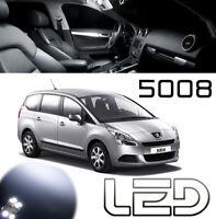 Peugeot 5008 15 Ampoules LED Blanc habitacle Plafonnier Sols porte Coffre