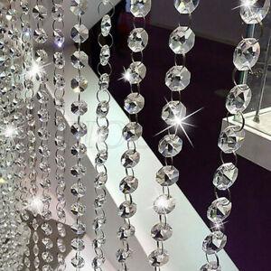 1m String Acrylic Curtain Room Divider Crystal Beads Door Window Wedding Hot