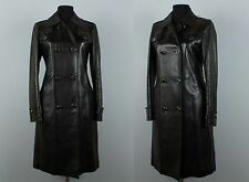 RRP 4950 $ superbe femme GUCCI leather pelle trench-coat TOM FORD taille 42