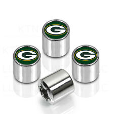 New NFL Green Bay Packers Car Truck Chrome Finish Tire Valve Stem Caps Covers