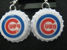 "1"" Bottle Cap Image Earrings ~ Handcrafted ~ **Gift Idea ~ Cubs"