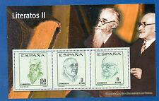España Hojita Recuerdo Literatos del año 1966 (CP-800)