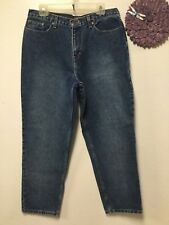 Ladies jeans size 16 P blue five pockets Relativity Petite 30