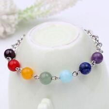 Frauen 7 Edelstein Perlen Yoga Reiki Heilung Balance Armband Stilvolle Armbänder