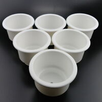 8PCS White Plastic Cup Drink Holders For Marine Boat RV Facilitate