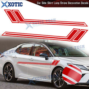 """67"""" Red Side Skirt Fender Hash Racing Style Decal Vinyl Sticker For Toyota Camry"""