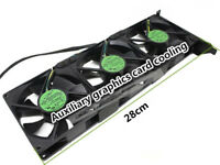 Auxiliary graphics card cooling PCI slot fan large air volume three fans 12V