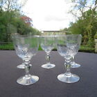 5 verres à vin en cristal taillé de baccarat ou st louis