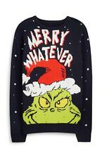 PRIMARK OFFICIAL MENS WOMEN UNISEX THE GRINCH MERRY WHATEVER XMAS JUMPER XXL