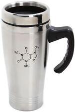 CAFFEINE MOLECULE TRAVEL MUG CUP STAINLESS STEEL COFFEE TEA HOME OFFICE CHEMIST