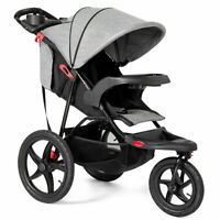 Foldable Lightweight Infant Baby Stroller Jogger All-terrain w/ Cup Phone Holder