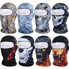 Men Women 3D Skull Balaclava Thin Full Face Mask Motorcycle Biker Sun Neck Hood