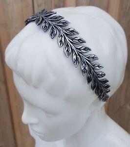 Neuf Claire's Femmes Cheveux Accessoire Plastique Bandeau Simple Feuille Argent