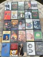 Job Lot 25 80's 90's Pop Album Cassette Tape Bundle Yard Birds Tom Jones
