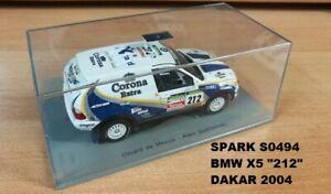 """Spark S0494 BMW X5 """"212"""" 8th Dakar 2004 Mevius/Guehennec 1:43"""