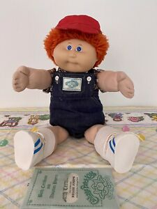 Cabbage Patch Kid Orange Fuzzy Hair Boy Rare Early Edition