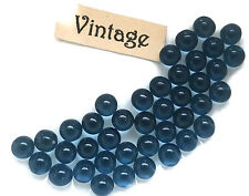 Vintage Glass Balls 4mm Eyes Blue Round No Hole Marbles Solid NOS Montana #1447B