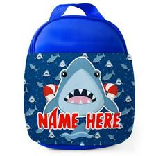 Personalised Baby Shark Kids Lunch Bag Any Name Childrens Boys School Snack 3