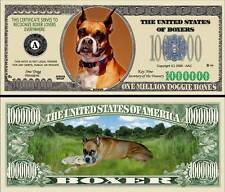 Boxer Dog Million Doggie Bones Dollar Bill Collectible Funny Money Novelty Note