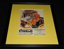 Vintage Coca Cola for Discriminating People Framed Poster Display Official Repro