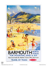 BARMOUTH  WALES VINTAGE RAILWAY TRAVEL HOLIDAY  ADVERTISING  POSTER