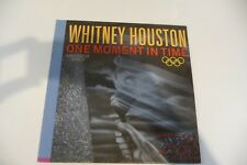"""WHITNEY HOUSTON MAXI 45T PRESSAGE ESPAGNE. ONE MOMENT IN TIME. KASHIF..12"""" SPAIN"""
