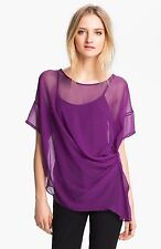 ELIZABETH and JAMES Set Azilia 2 pc. Top Cami Purple Sheer Shell NWT Small