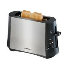 Cloer Toaster 3890 Edelstahl-Schwarz wärmeisoliertes Gehäuse 600 W Stopptaste