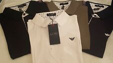 ARMANI Jeans Men's Polo Short Sleeve Shirt- With UK Delivery White M