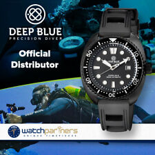 Deep Blue MILITARY DIVER 300 Swiss Automatic watch 44mm PVD Blk Bezel Black dial