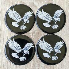 Black Eagle Dayton Zenith Wire Wheel Chips Emblems Decals Set Of 4 Size 225in