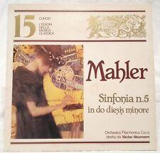 LP I tesori della musica classica 15 - Mahler Sinfonia n.5 - Curcio TMC-15
