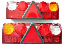 2 x 24V LED Rear Tail Stop Lights Lamps Trailer Truck Lorry Tipper Chassis -New